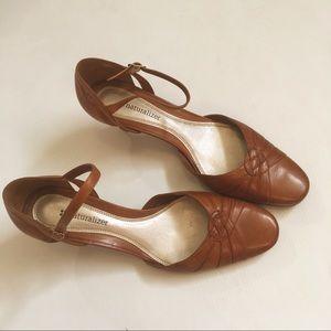 VTG Naturalizer Ankle Strap Leather Sandals 7M